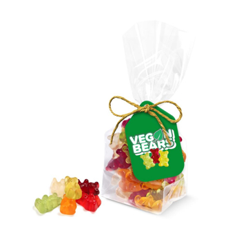 bag of branded eco friendly gummy bears.
