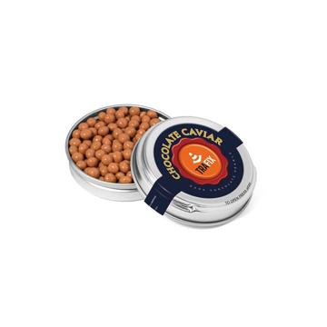 tin of chocolate caviar