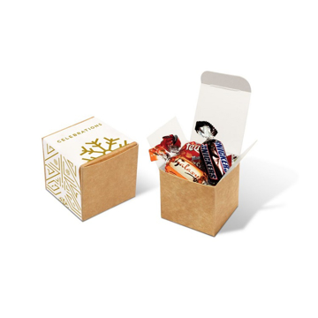 small eco box of celebration chocolates