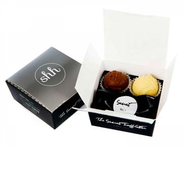 open box of promotional truffles