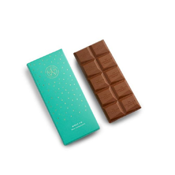 milk chocolate bar with mince pie flavourings