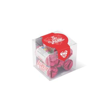clear cube of love heart sweet rolls