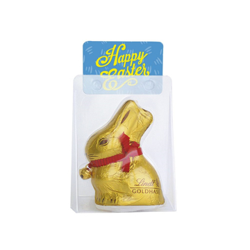 Lindt Chocolate Easter Bunny in branded packaging